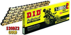 DID 520 DZ2 Chain 120 Links Gold #520DZ2-120 Motorcross Chain CR KX RM YZ CRF KX