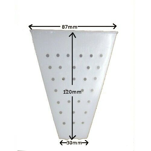 Cheese Mould No.26 - Tall Pyramid (Faisselle) 120mm tall, 87mm sq x 30mm base