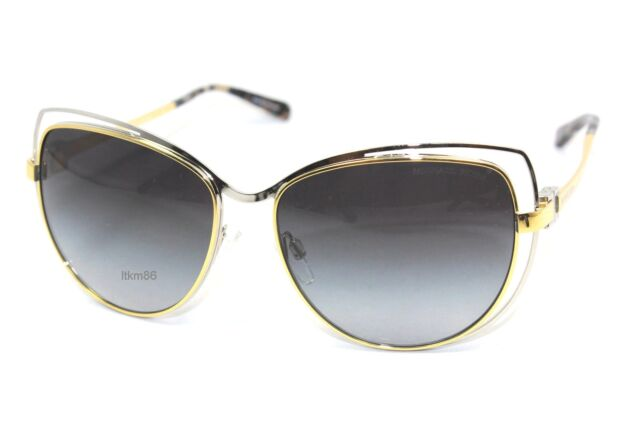 8761e30a9ef New MICHAEL KORS AUDRINA I MK1013-112011 Gold Silver   Silver Mirror  Sunglasses