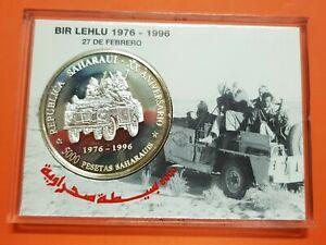 WESTERN-SAHARA-5000-PESETAS-SAHARAUIS-1996-SILVER-MINT-SET-1-OZ-Republica-KM-36