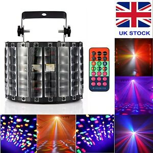 RGBW-30W-9-LED-Stage-Light-DMX512-Strobe-Lamp-Remote-Control-UK-Adapter-Full-Kit