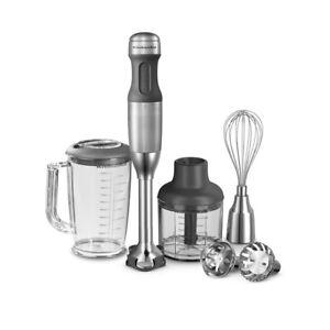 Kitchen-Aid-5KHB2571ESX-EDELSTAHL-Stabmixer-Mixen-Hacken-und-Puerieren