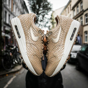 Details about WMNS Nike Air Max 1 Premium 454746 900 Blur/Light Orewood Brown Running Shoes