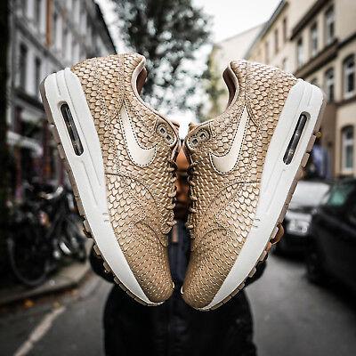 WMNS Nike Air Max 1 Premium 454746 900 Blur/Light Orewood Brown Running Shoes   eBay