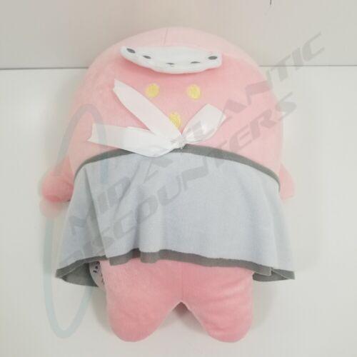 "San-x Mamegoma 16"" Plush Pink Beni Goma Maid Gray Dress Stuffed Animal"