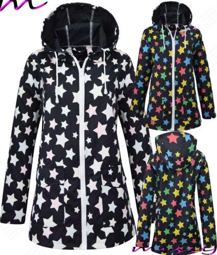 Nouveau Femme Showerproof Pluie MAC Parka Festival Imperméable Taille S//M-X//L multicolore