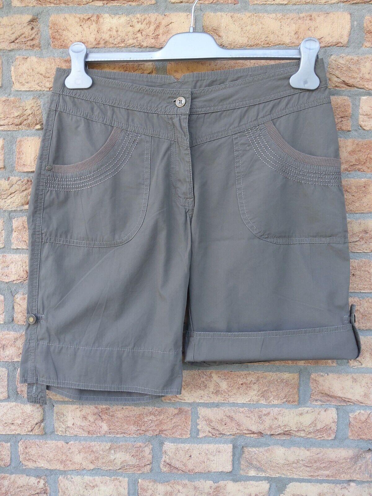 TCM by Tchibo Damen Schorts Gr. 38 Shorts Bermuda Khaki Cotton Sehr gut