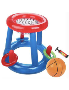 Giant Inflatable Floating Basketball Hoop /& Blow Up Ball for Swimming Pool Outdoor Toys Toys and Hobbies