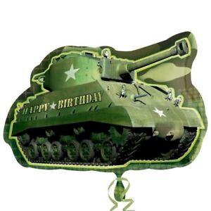 Army-Camouflage-SERBATOIO-SUPER-forma-Foil-Balloon-Festa-di-Compleanno-Decorazione-Militare