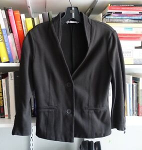 d09b07e182d82 Image is loading T-by-Alexander-Wang-Knitted-Sweater-Blazer-S