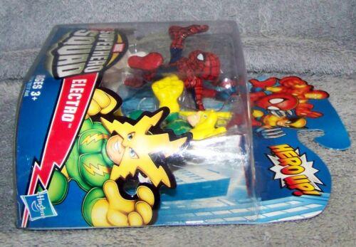 SUPER HERO SQUAD 2009 MARVEL SPIDER-MAN /& ELECTRO SET