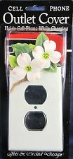 Outlet cover Cell Phone Holder Dogwood Flower Hand Painted Home Decor