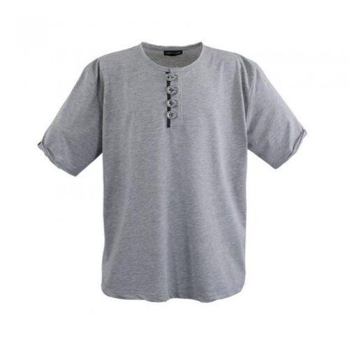 Lavecchia Herren Poloshirt T-Shirt kurz Arm Freizeit Übergrößen LV118 grau