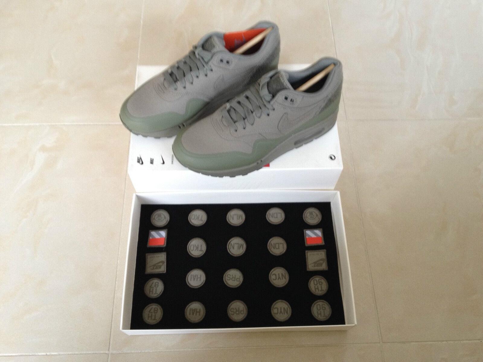 Nike AIR MAX 1 Patch Patch Patch SABBIA NERA ACCIAIO verde TAGLIA 5 6 7.5 8.5 11 NUOVO | Aspetto estetico  | Maschio/Ragazze Scarpa  21d55b