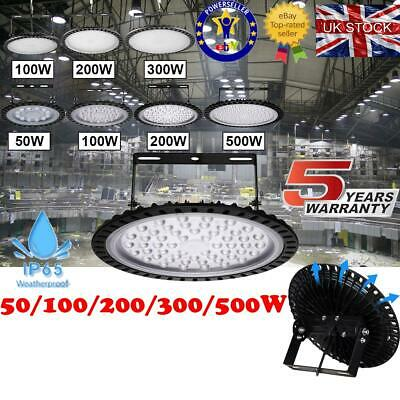 UFO LED High//Low Bay Light 50W//100W//200W//300W//500W Gym Warehouse Industrial Lamp
