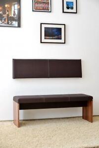 s wand kissen keil form keilwandkissen kunstleder mit montage set 115 x 30 cm 4260474660957 ebay. Black Bedroom Furniture Sets. Home Design Ideas
