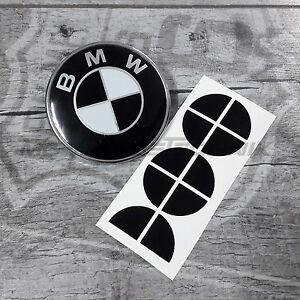 BMW-Emblem-Logo-Aufkleber-Ecken-20-mm-z-B-fur-Motorrad-schwarz-glanzend