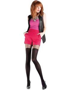 Gabriella Giny Women/'s Polka Dot Patterned Tights Sheer Black Pantyhose