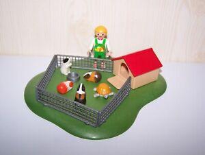 Playmobil-Enfants-cochons-d-039-Inde-et-tortue-ref-3120