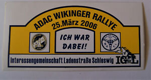 Motorsport-Aufkleber ADAC Viking Rally 2006 AC Schleswig Msf Idstedt