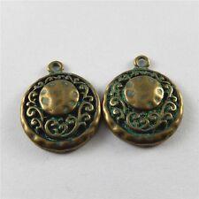 57x22mm Patina Bronze Alloy Snake Craft Pendant Charm Jewelry Accessories 10 pcs