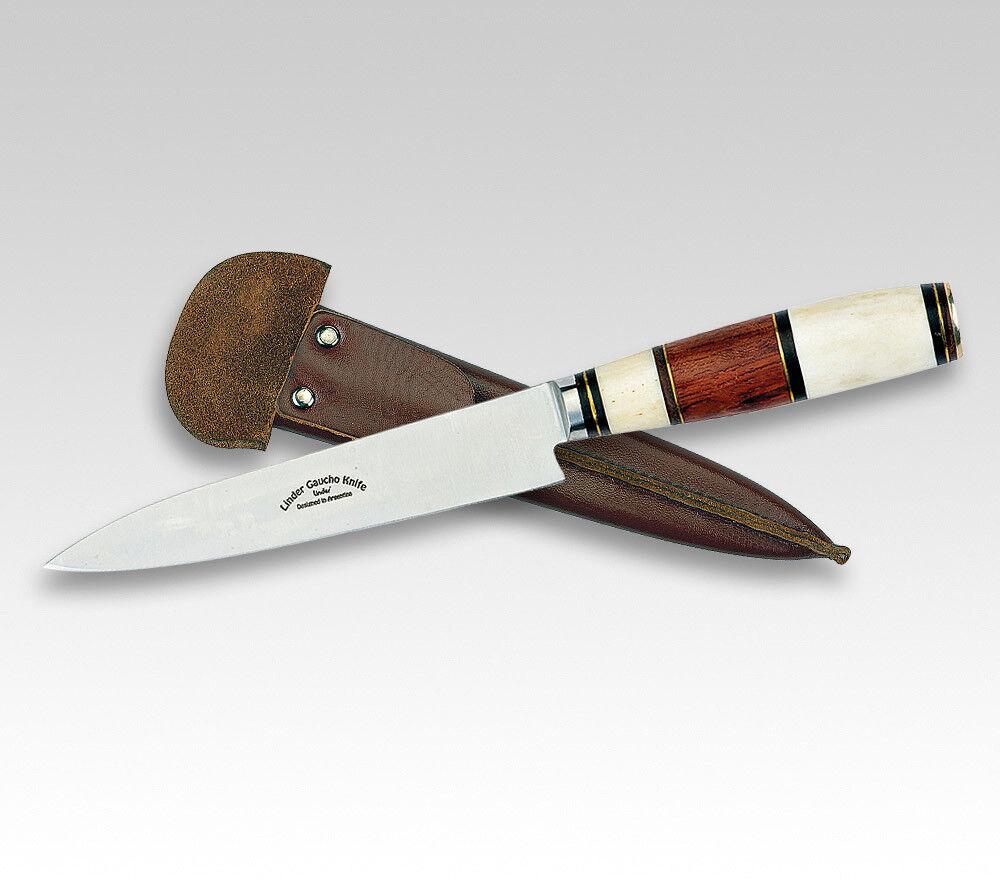 LINDER Gaucho-Messer Gaucho-Messer Gaucho-Messer Palisander Knochen Messing traditionelle Lederscheide 935774