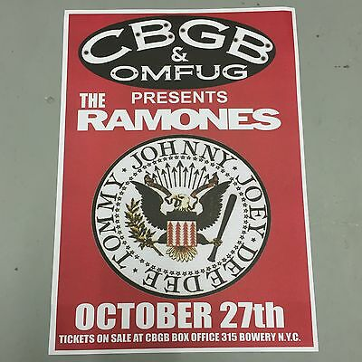 RAMONES - CONCERT POSTER CBGB'S NEW YORK CITY 27th OCTOBER (A3 SIZE)