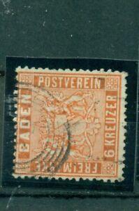 Baden-Wertziffer-Nr-11-gestempelt-Nr-79