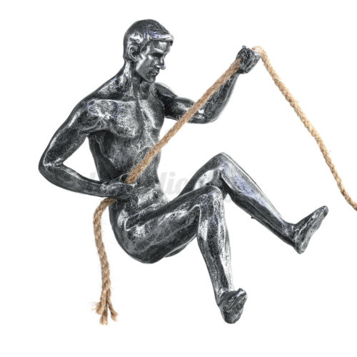 Resin Pinnacle Rock Climbing Figure Carving Sculpture Ornament Figures Sliver z
