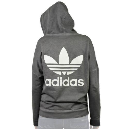 Damen Pullover Jacke Originals Zip Adidas Grau Sweatshirt Pe Hodie Washed Crew 16q5qgxw