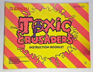 TOXIC-CRUSADERS-MANUAL-ONLY-NO-GAME-INCLUDED-NINTENDO-NESM006
