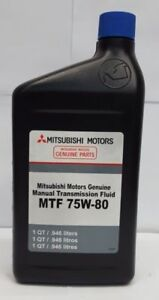 genuine mitsubishi manual transmission gear oil fluid 75w 80 ebay rh ebay com Manual Transmission Fluid Check GM Synchromesh Manual Transmission Fluid