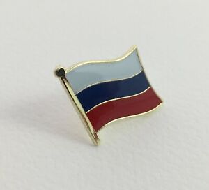Russia Europe Asia Country Flag Symbol Red Blue White Pin Yellow Gold Tone Ebay