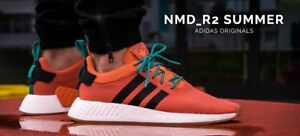 size 40 67ea5 0616f Details about Adidas NMD_R2 Summer Spice Orange CQ3081 Mens Shoes Size 9.5  US 100% AUTHENTIC