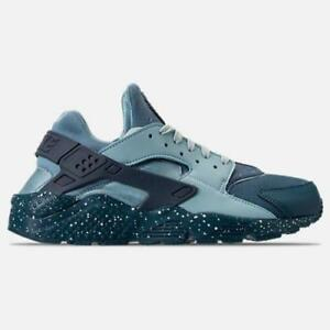 4703b3940498 NIKE AIR HUARACHE RUN PREMIUM 704830 402 BLUE FORCE DIFFUSED B OCEAN ...