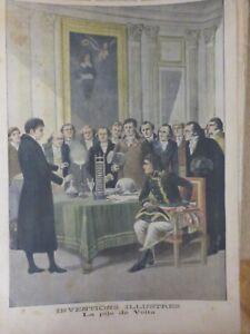 1901 Napoleón Bonaparte Invenciones Ilustres Pila Volta 2EME