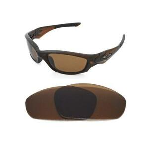 Image is loading NEW-POLARIZED-BRONZE-REPLACEMENT-LENS-FOR-OAKLEY-STRAIGHT- c8860e2fd007