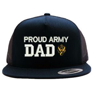 Image is loading PROUD-ARMY-DAD-MESH-TRUCKER-SNAP-CLOSURE-CAP- 5599ebaefd4