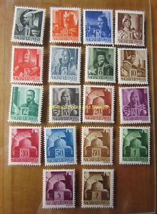 EBS-Hungary-Magyarorszag-1943-Heroes-amp-St-Stephen-039-s-Crown-705-741-MNH