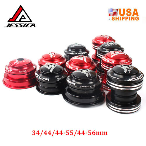 "JESSICA Double Bearing Bicycle Headsets 34//44//44-55//44-56mm For 1-1//8/"" Fork Tube"