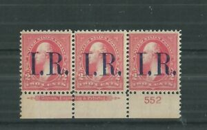 UNITED-STATES-1898-INTERNAL-REVENUE-PLATE-STRIP-553-MNH
