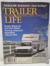 Trailer Life Magazine June 1986 Motorhomes Travel Trailers Campers Folding