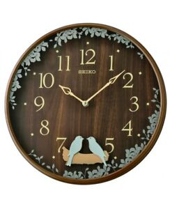 Nuevo-Seiko-Reloj-Muro-Pendulo-qxc237b