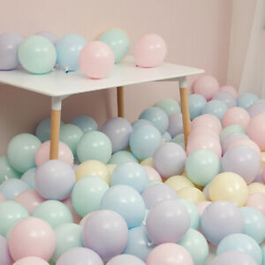 100PCS-10-039-039-ROUND-LATEX-BALLOONS-MACARON-COLOR-WEDDING-PARTY-BIRTHDAY-DECOR-FIRM