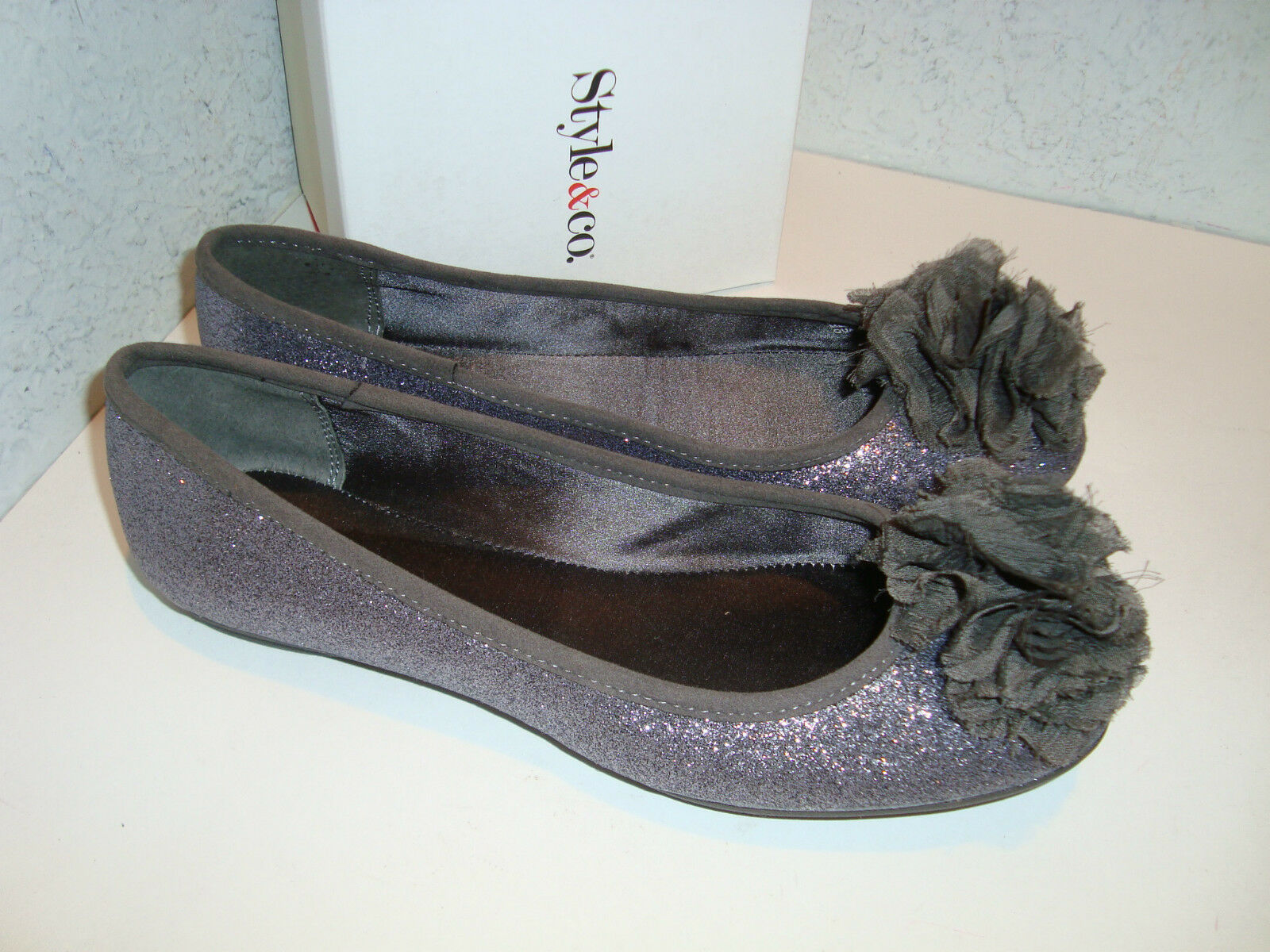 Style & Co Womens New Quaint Pewter Flats shoes 6 Medium