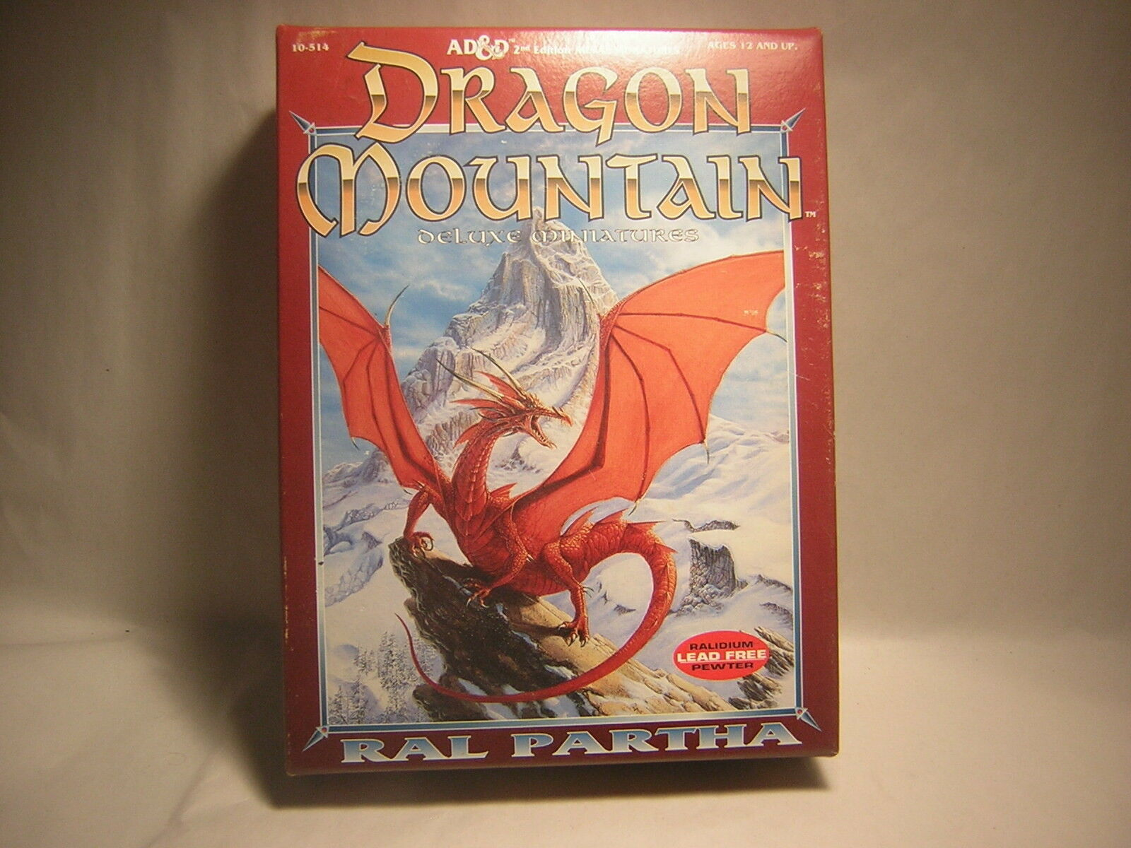 AD&D Dungeons & Dragons   DRAGON MOUNTAIN  Ral Partha 1993  genre Warhammer  bonne qualité