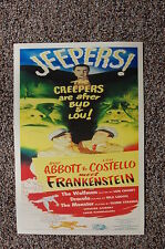 Abbott & Costello Meet Frankenstein Lobby Card Movie Poster