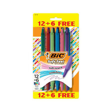Bic Soft Feel Retractable Ballpoint Pens 10mm 8 Assorted Colors 126 Pack