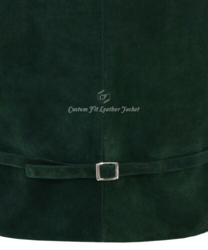 Men/'s Real Leather Verde Scamosciato GILET COWBOY WESTERN Festival Festa Canotta Zara