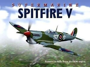 SPITFIRE-V-Supermarine-Avion-RAF-WW2-porte-avion-britannique-GRAND
